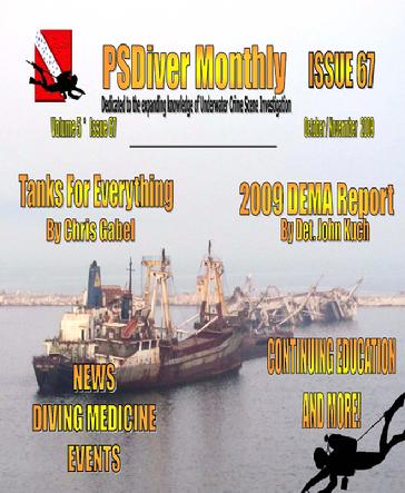 PSDiver Monthly Issue 67 - Scuba Cylinders, Tanks for Everything - DEMA 2009 Report - UWCSI News, Events CE and MORE