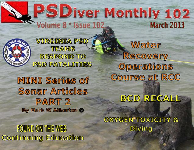 PSDiver Monthly Issue 103 - Sonar Part 2 - VA Teams Respond to PSD Fatalities
