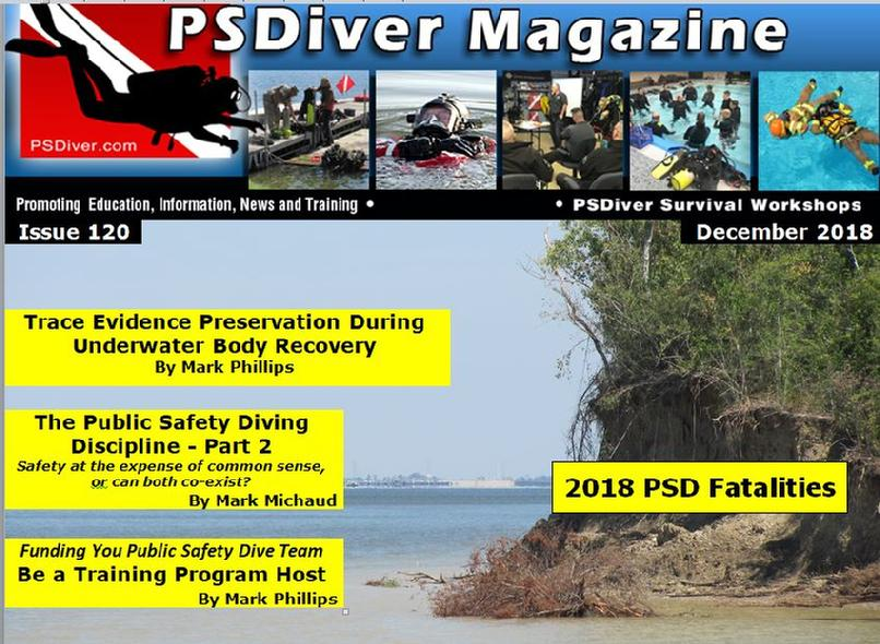 PSDiver Police Sheriff Firefighter SAR Underwater Body Recovery Rescue PSD Public Safety Diving