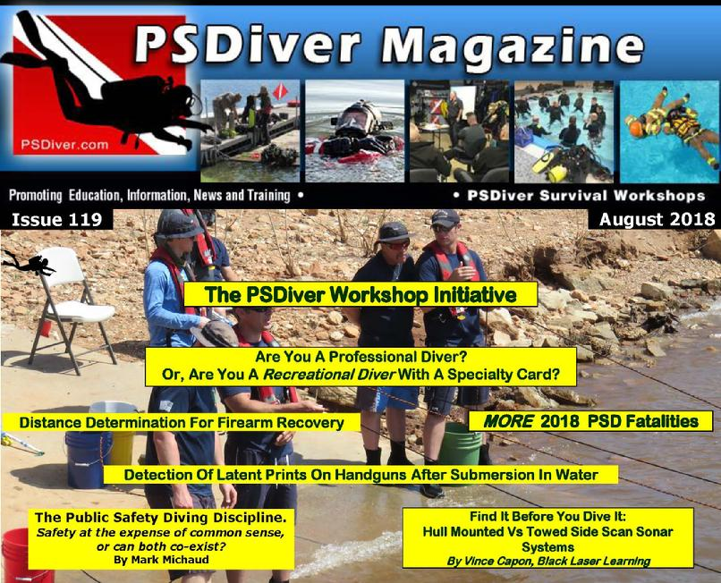 Public Safety Dive Diving Diver Police Game Warden Firefighter PADI NAUI UCI ERDI PSDA Water Response Rescue Swift PSD Fatality LEO Flood